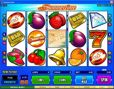 Play slots at Vegas Winner: Vegas Winner featuring the Video Slots Summertime with a maximum payout of $50,000