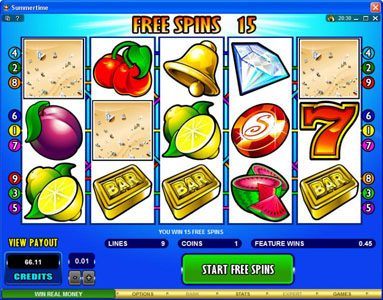 Grand Mondial featuring the Video Slots Summertime with a maximum payout of $50,000