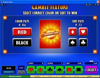 VipSpel featuring the Video Slots Summertime with a maximum payout of $50,000