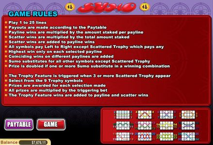 Play slots at Lincoln: Lincoln featuring the Video Slots Sumo with a maximum payout of $50,000