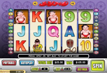 Intertops Classic featuring the Video Slots Sumo with a maximum payout of $50,000