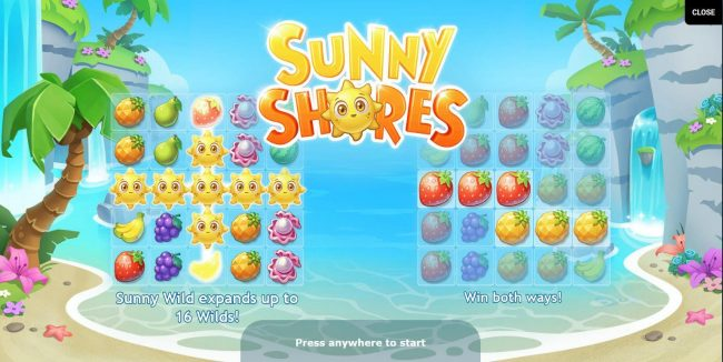 Intercasino featuring the Video Slots Sunny Shores with a maximum payout of $600