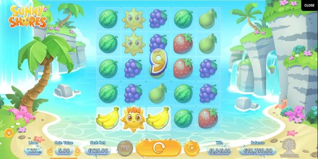 King Billy featuring the Video Slots Sunny Shores with a maximum payout of $600