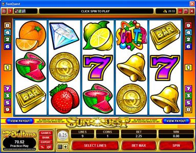 Play slots at Casino Classic: Casino Classic featuring the Video Slots Sunquest with a maximum payout of $20,000