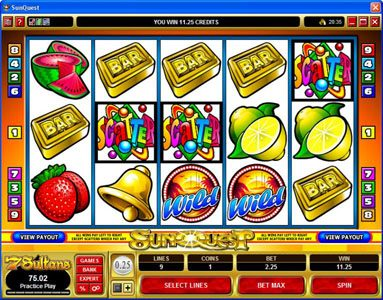 King Neptunes featuring the Video Slots Sunquest with a maximum payout of $20,000