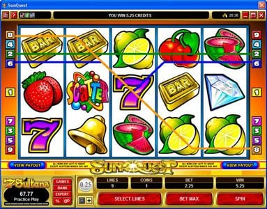 Play slots at Bonanza: Bonanza featuring the Video Slots Sunquest with a maximum payout of $20,000