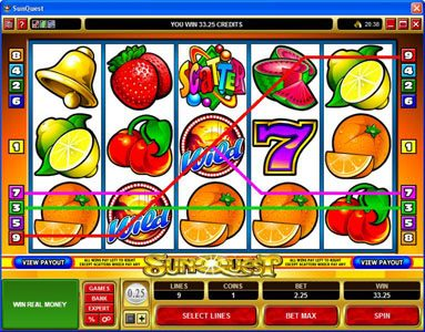 HippoZino featuring the Video Slots Sunquest with a maximum payout of $20,000