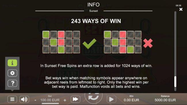 Sunset :: 243 Ways to Win