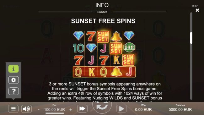 Sunset :: Free Spins Rules