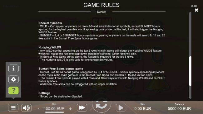 Sunset :: General Game Rules