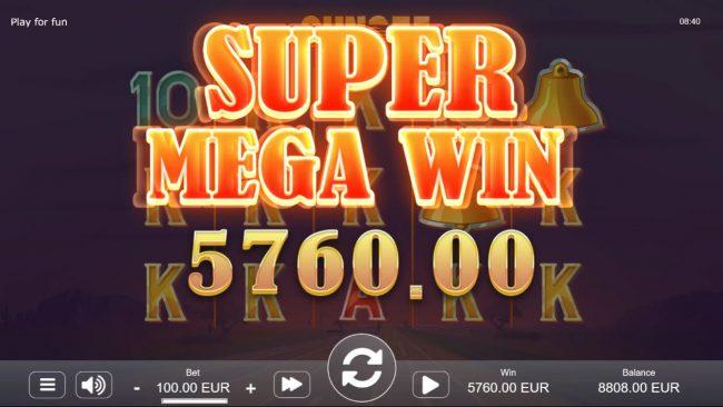 Sunset :: Super Mega Win