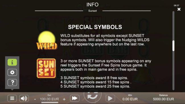 Sunset :: Special Symbols