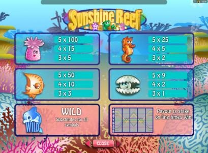 Casino Classic featuring the Video Slots Sunshine Reef with a maximum payout of $50,000