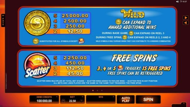 Ruby Fortune featuring the Video Slots SunTide with a maximum payout of $75,000