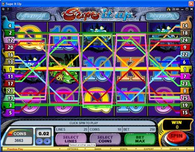 Play slots at Queen Vegas: Queen Vegas featuring the Video Slots Supe It Up with a maximum payout of $25,000
