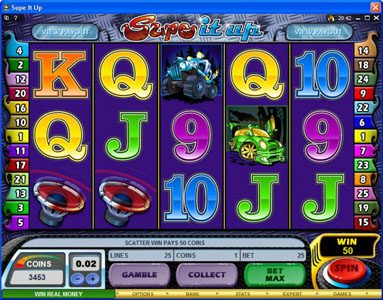 Play slots at Golden Tiger: Golden Tiger featuring the Video Slots Supe It Up with a maximum payout of $25,000
