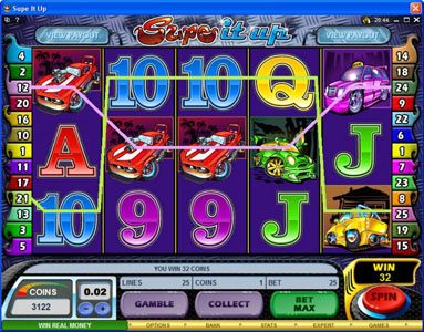 Play slots at Casino Action: Casino Action featuring the Video Slots Supe It Up with a maximum payout of $25,000