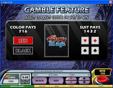 Casino Kingdom featuring the Video Slots Supe It Up with a maximum payout of $25,000