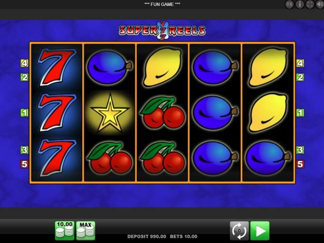 Play slots at Energy: Energy featuring the Video Slots Super 7 Reels with a maximum payout of $100,000