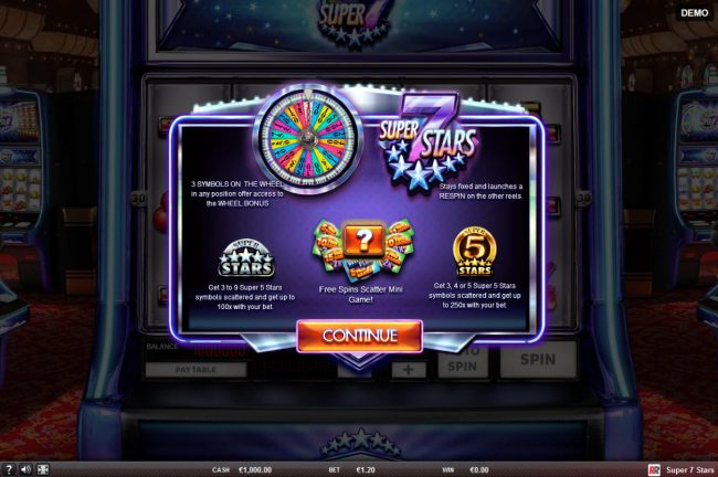 Play slots at Surf Casino: Surf Casino featuring the Video Slots Super 7 Stars with a maximum payout of $45,000