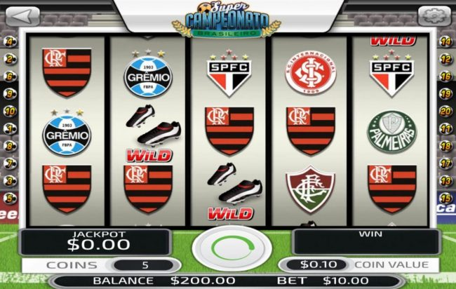 MyBcasino featuring the Video Slots Super Campeonato Brasileiro with a maximum payout of $50,000