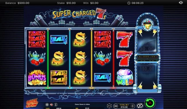 Play slots at Slots Cafe: Slots Cafe featuring the Video Slots Super Charged 7s with a maximum payout of $8,000