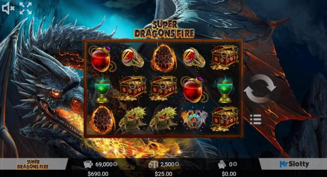 Play slots at Winner Million: Winner Million featuring the Video Slots Super Dragons Fire with a maximum payout of $200,000