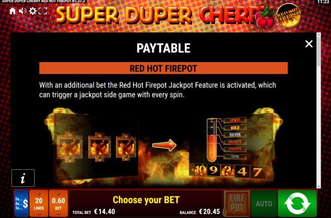 Super Duper Cherry Red Hot Firepot :: Red Hot Firepot Rules