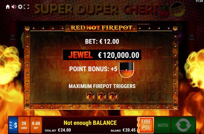 Super Duper Cherry Red Hot Firepot :: Red Hot Firepot