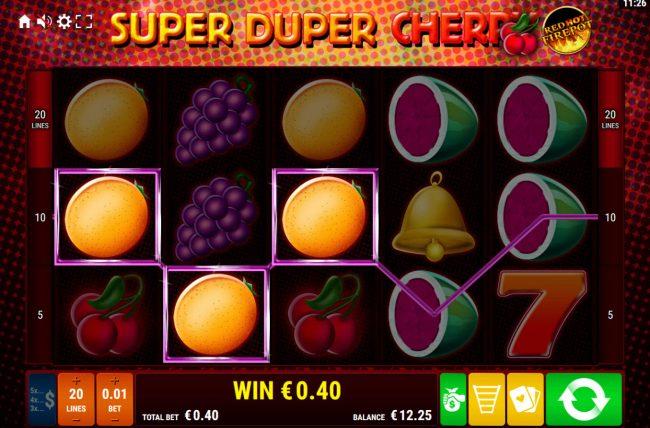 Super Duper Cherry Red Hot Firepot :: Multiple winning paylines
