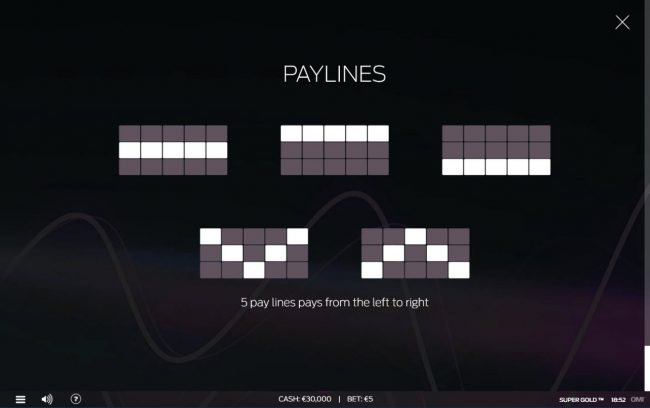 Paylines 1-5