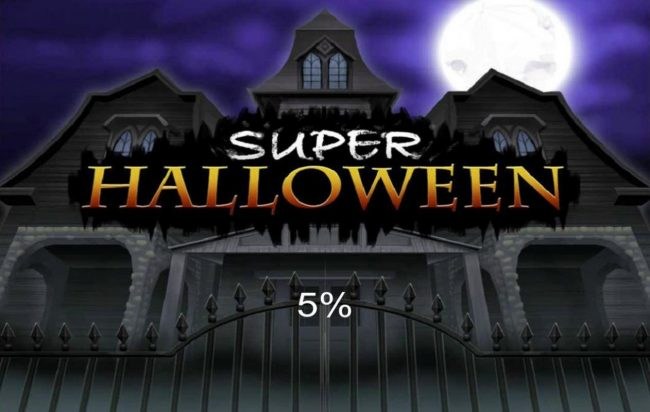 Play slots at Vegas Crest: Vegas Crest featuring the Video Slots Super Halloween with a maximum payout of $50,000