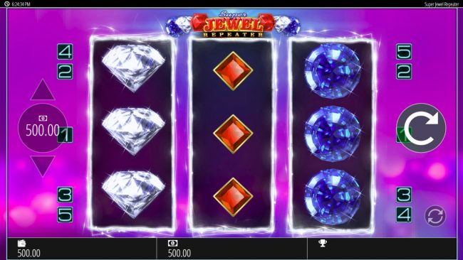 Play slots at Secret Slots: Secret Slots featuring the Video Slots Super Jewel Repeater with a maximum payout of $250,000