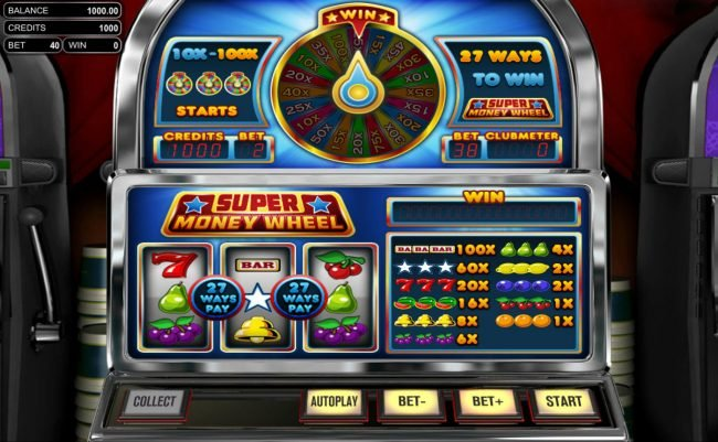 Supreme Play featuring the Video Slots Super Money Wheel with a maximum payout of $2,700