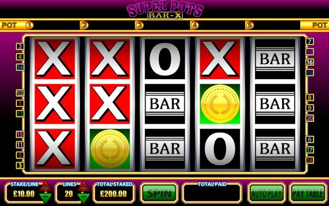 Play slots at Grand Master Jack: Grand Master Jack featuring the Video Slots Super Pots BAR-X with a maximum payout of $250,000