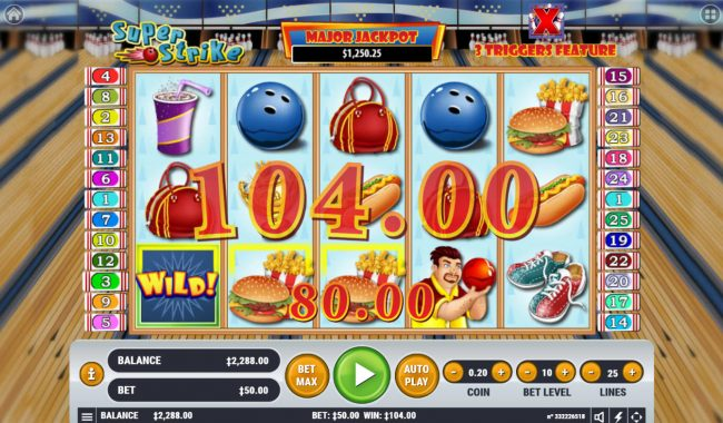 Play slots at Casinia: Casinia featuring the Video Slots Super Strike with a maximum payout of $2,500,000