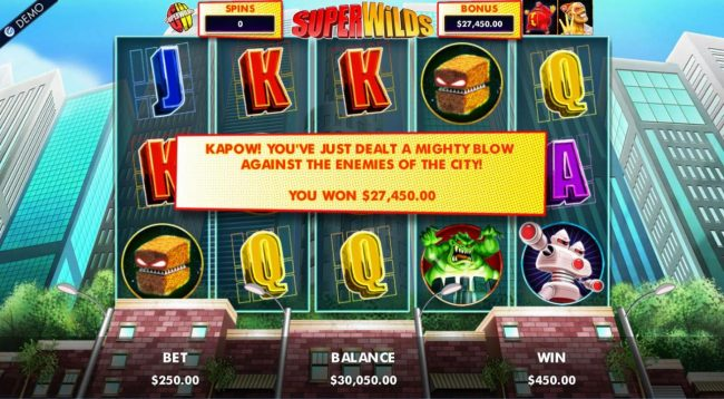 Come On featuring the Video Slots Super Wilds Earth's Wildest Superheroes! with a maximum payout of $1,250,000