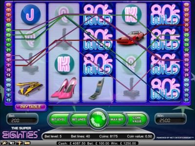 14 Red Casino featuring the Video Slots Super Eighties with a maximum payout of $2,500