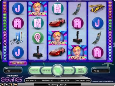 Casino Luck featuring the Video Slots Super Eighties with a maximum payout of $2,500