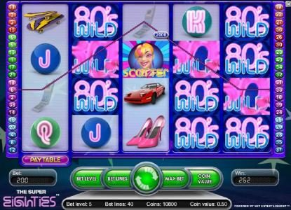 Wintingo featuring the Video Slots Super Eighties with a maximum payout of $2,500