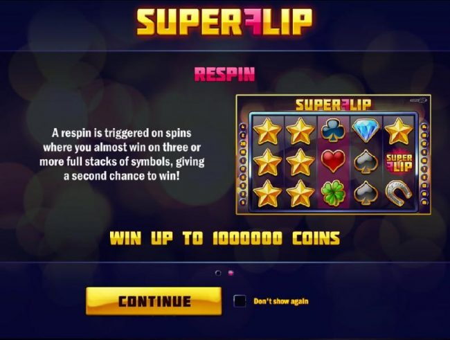 Joker Casino featuring the Video Slots Super Flip with a maximum payout of $5,000,000