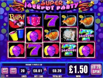 Super Jackpot Party :: 5 of a kind