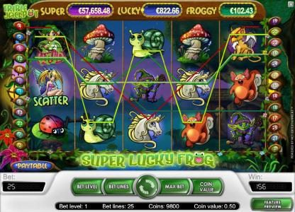 10Bet featuring the Video Slots Super Lucky Frog with a maximum payout of $15,000