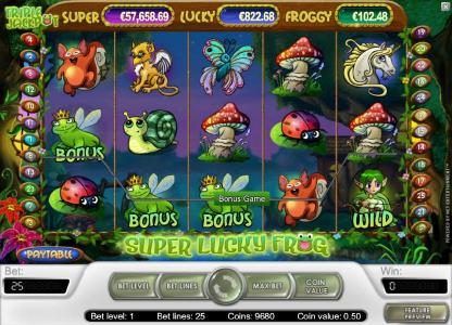 Vegas Baby featuring the Video Slots Super Lucky Frog with a maximum payout of $15,000