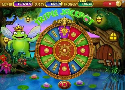 Spinzilla featuring the Video Slots Super Lucky Frog with a maximum payout of $15,000