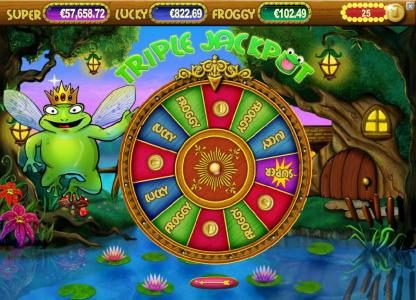 Wild Wild Bet featuring the Video Slots Super Lucky Frog with a maximum payout of $15,000