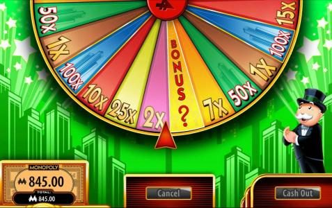 Super Monopoly Money :: Money Wheel lands on the 2x multiplier