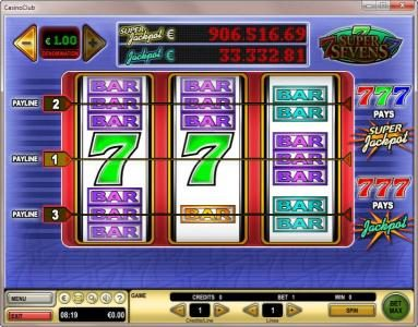 Genting featuring the Video Slots Super Sevens with a maximum payout of $177,776