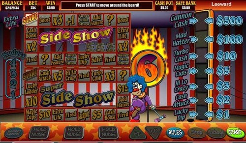 Wild Slots featuring the video-Slots Super Slideshow 1 Euro with a maximum payout of 2,000x