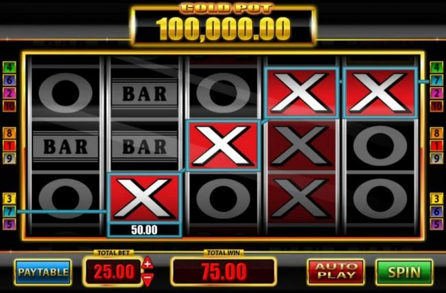 Super Spins Bar X :: The game pays from left to right and right to left.